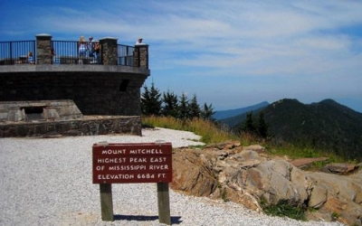 Mt. Mitchell, Tallest Mountain East of the Rockies