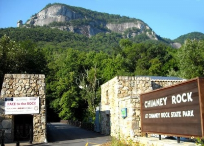 Entrance to Chimney Rock State Park, NC