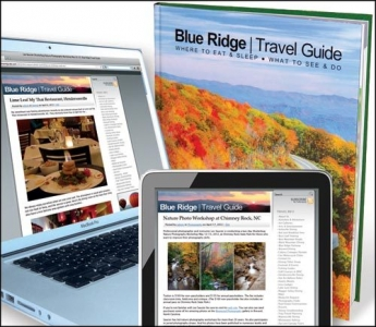 Blue Ridge Travel Guide Books Being Delivered