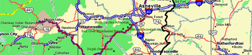Map of Asheville and Western North Carolina