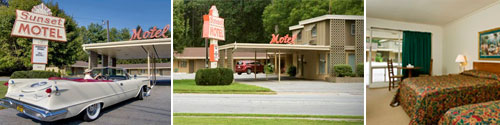 Brevard NC Sunset Motel Retro