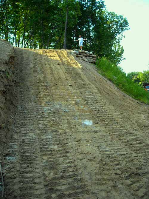 New home construction hendersonville north carolina for Steep driveway construction