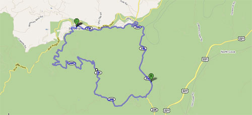 Diamonback Loop - NC 226A - Little Switzerland, NC Google Map
