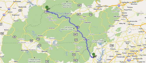 Google Map of Moonshiner 28 Map NC28