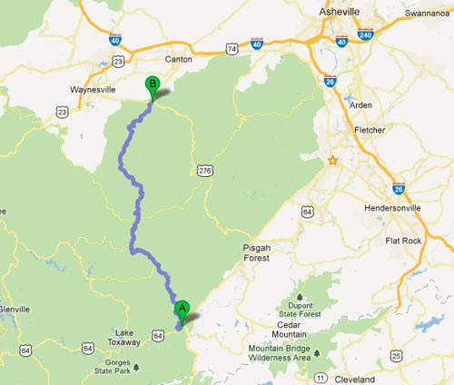 NC-215 Off the Blue Ridge Parkway - From US-64 to US-276 Google Map