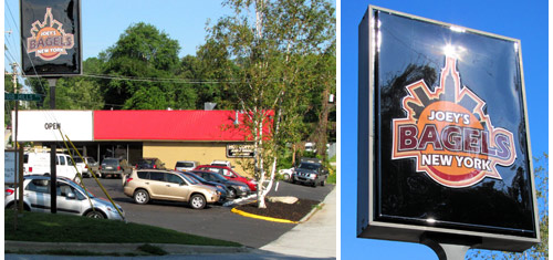... New York Bagels Restaurant Parking Lot On Opening Day – Blue Ridge