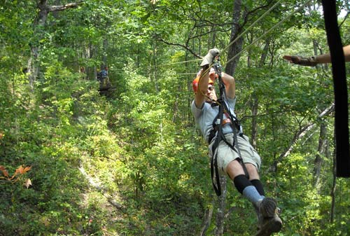 Ziplines At Navitat Canopy Adventures Asheville NC