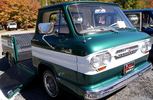 Chevrolet also offered this small, fuel-efficient Corvair ...