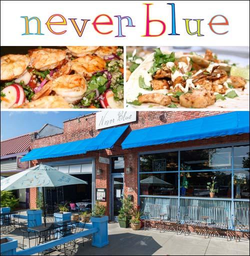 Never Blue Tapas Restaurant in Hendersonville, NC