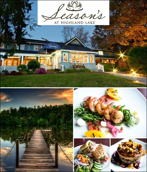 Season's Restaurant at Highland Lake Inn, Flat Rock, NC