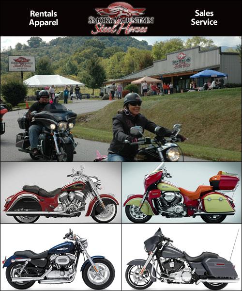 Smoky Mountain Steel Horses Motorcycle Rentals, Waynesville, NC