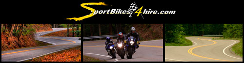 SportBikes4Hire - Motorcycle Rentals in western NC and at Tail of the Dragon