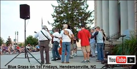 Blue Grass on First Fridays Hendersonville NC