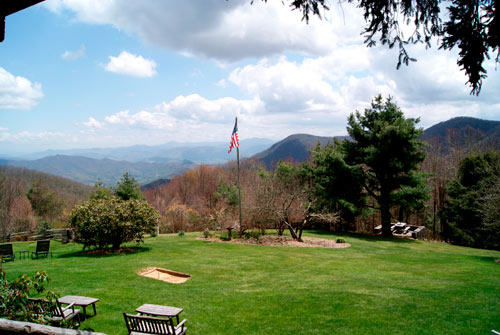 View from The Swag Country Inn, Waynesville, NC