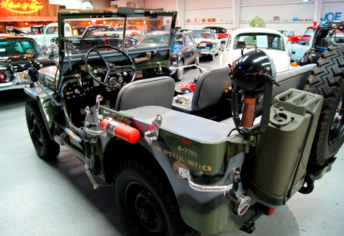Army Jeep at the Bennett Classic Car Museum