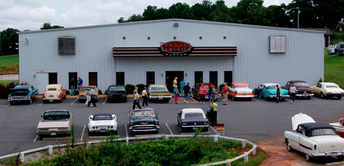 Picture Outside the Bennett  Classic Car Museum in Forest City, NC