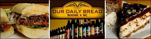 Our Daily Bread Delicatessen Restaurant and Bar, Boone, NC