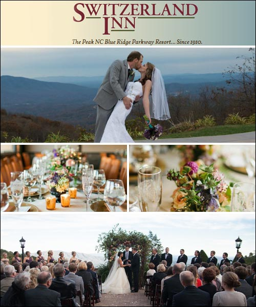 Switzerland Inn and Chalet Wedding Services, Spruce Pine, NC