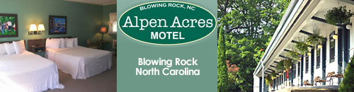 Alpen Acres Motel and Chalet, Blowing Rock, NC