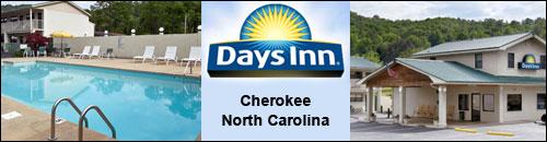 Days Inn Cherokee Hotel across from Harrah's Casino
