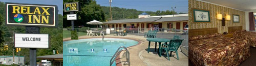 The Relax Inn near Bryson City, North Carolina, is motorcycle-friendly.