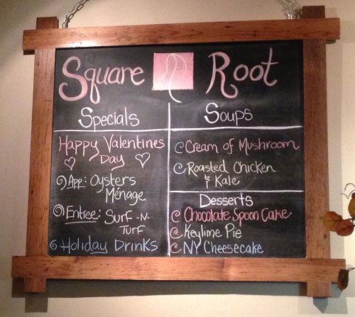 Square Root Valentine's Day Specials