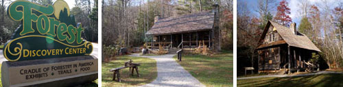 Cradle of Forestry Center in Pisgah Forest near Brevard, NC