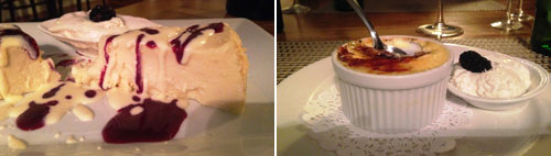 Desserts at Tree Tops Restaurant at the Lodge on Lake Lure