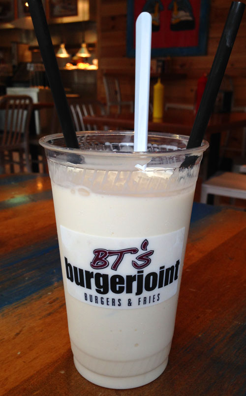 Close-up Picture of our Vanilla Shake at BT's Burgerjoint, Biltmore Park, Asheville, NC