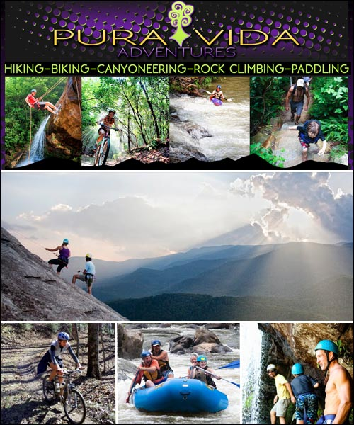 Pura Vida Adventure Tours, Pisgah Forest, Brevard, NC