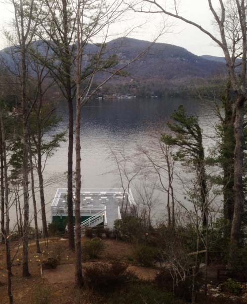 View From Tree Tops Restaurant at the Lodge on Lake Lure
