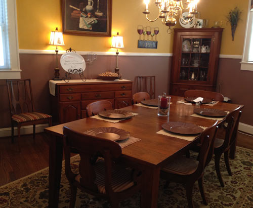 Dining Room at the Vintage Inn, Yadkinville, NC