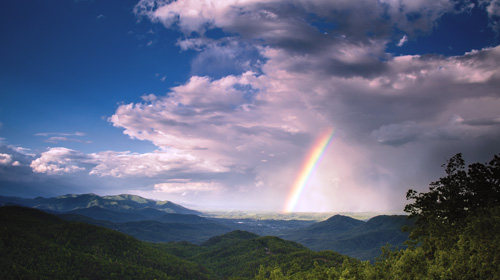 Joye Ardyn Durham Captures a Rainbow After a Summer Storm in the Blue Ridge Mountains