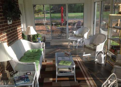 Sun Room at the Vintage Inn, Yadkinville, NC