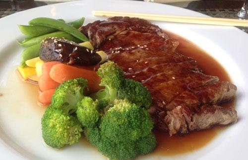 Beef Teriyaki at UMI Japanese Restaurant, Hendersonville, NC