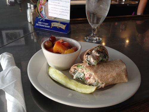 Chicken Wrap at Wooden Pickle Restaurant, Marion, VA
