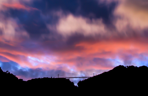 Colors Above the Bridge Photo by Jim Ruff