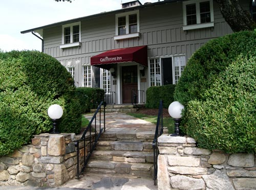 Front Entrance to the Greystone Inn at Lake Toxaway, NC