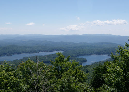 Lake Toxaway View From Private Home on Toxaway Mountain