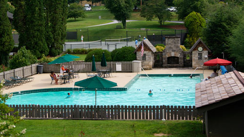 Pool at the Lake Toxaway Country Club and the Greystone Inn