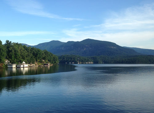 Morning view from the Lodge at Lake Lure