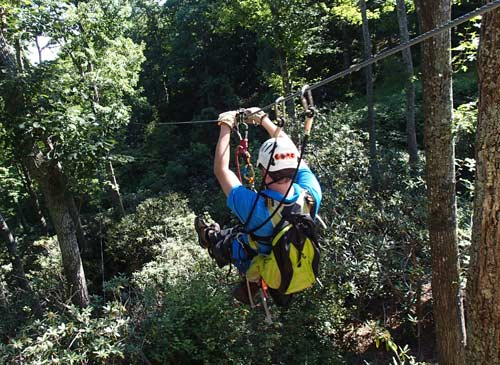 Super-Fast Zip Lines at The Gorge in Saluda, NC