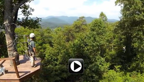 Video of Zip Lines at French Broad Rafting and Ziplines