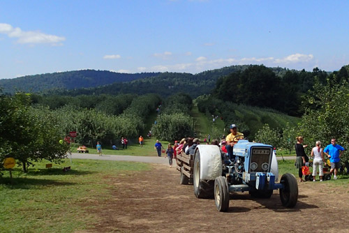 Hayride at Sky Top Orchards, Zirconia, NC