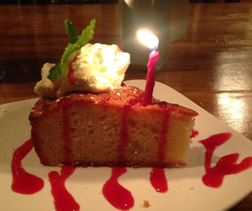 Glass Onion Almond Pound Cake Dessert