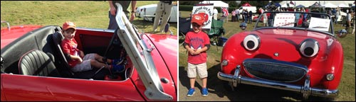Grandson Inside Bugeye Sprite at EuroFest