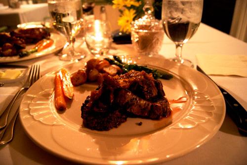 Angus Beef Tenderloin at Newman's Restaurant in Saluda, NC.