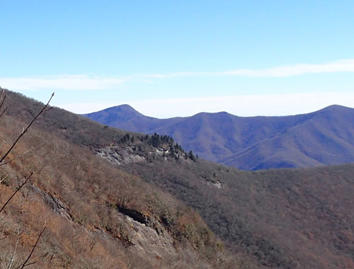 View from Craggy Gardens Visitors Center, Fall 2015