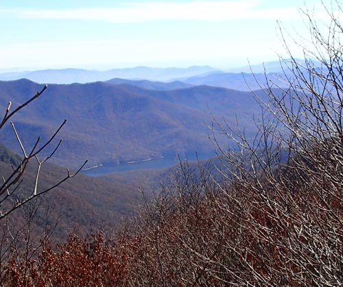 View of the North Fork Reservoir from Craggy Gardens on the Blue Ridge Parkway