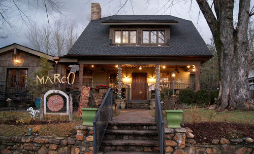 Picture Outside the Marco Trattoria Restaurant in Brevard, NC